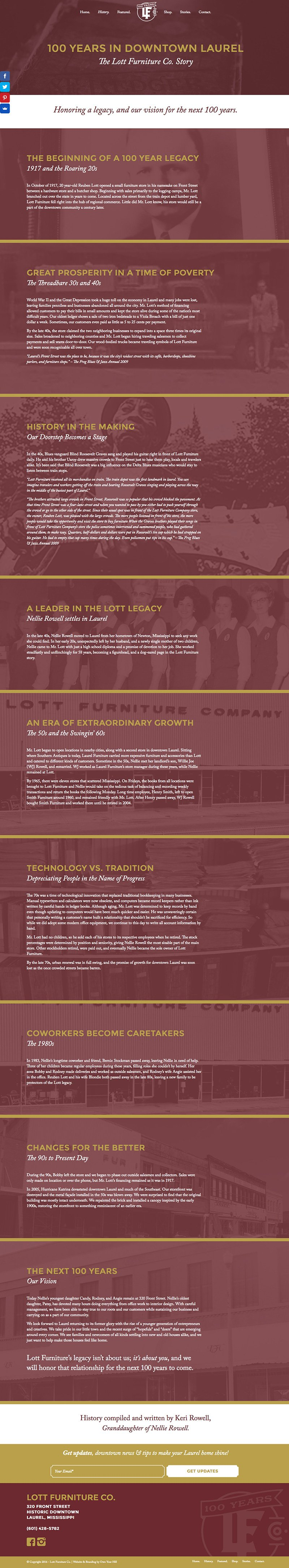 Leadership In Downtown Laurel. The Folks At Lott Furniture ...